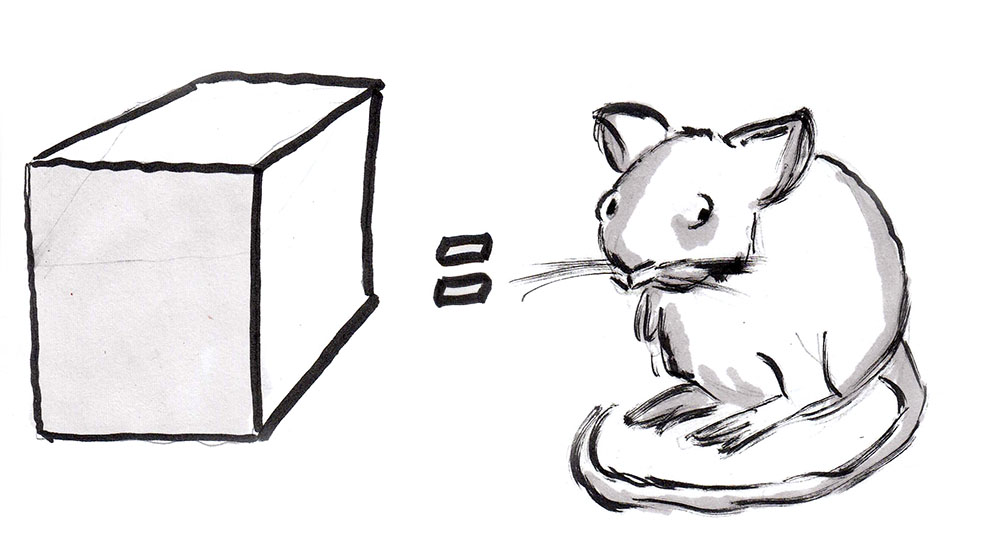Mouse equals cube